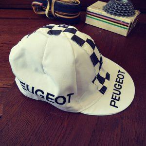 Peugeot Eddy merckx Tom simpson Thevenet vintage casquette cycliste