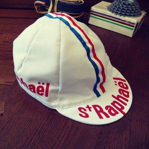 St-Raphael casquette cycliste Jacques Anquetil vintage